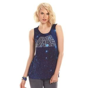 Rock & Republic ; Star Wars galaxy sparkle tank